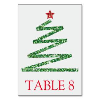 Glitter-Weihnachtsbaum Karte