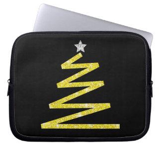 Glitter-Weihnachtsbaum Laptop Sleeve