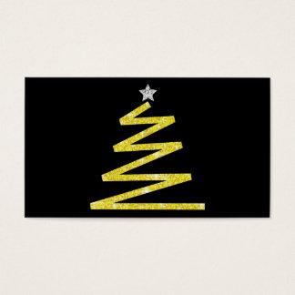 Glitter-Weihnachtsbaum Visitenkarte
