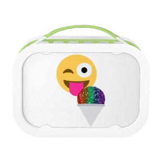 Glitter Wink emoji Lunchbox-Mittagessenkasten Brotdose