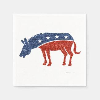 Glitterdemokratesel-Papierservietten Servietten