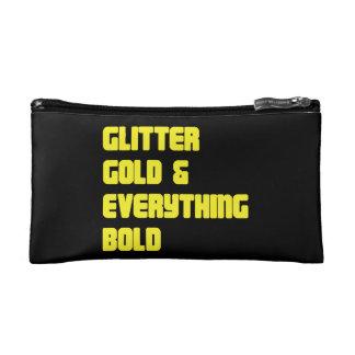 Glittergold und -alles mutige Kosmetik-Tasche Makeup-Tasche