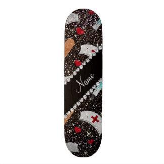 Glitterkrankenschwester-Hutherz des individuellen Skateboardbrett