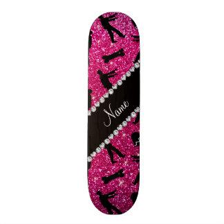 Glitterneonzombies des heißen Rosas des Personalisierte Skateboarddecks
