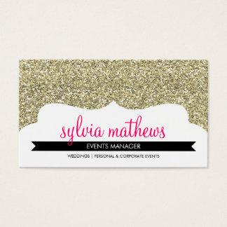 Glitterschein-Goldrosa DER GESCHÄFTS-KARTE Visitenkarte