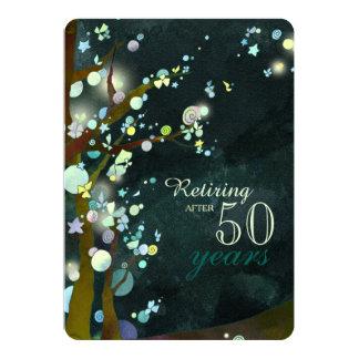 Glittery Abends-Ruhestands-Feier Karte