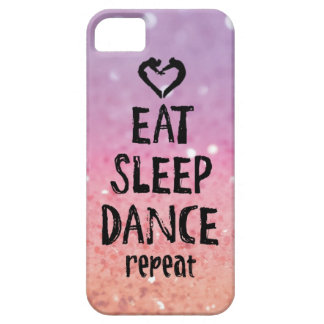 Glittery essen Sie, schlafen Sie, tanzen Sie Fall Barely There iPhone 5 Hülle