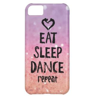Glittery essen Sie, schlafen Sie, tanzen Sie Fall iPhone 5C Hülle