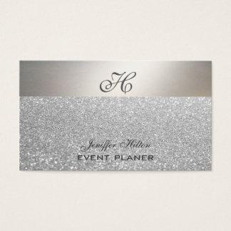 Glittery Luxusmonogramm des beruflichen eleganten Visitenkarten