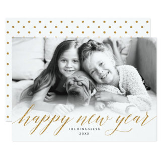 Glittery neues Jahr-Foto-Karte im 12,7 X 17,8 Cm Einladungskarte