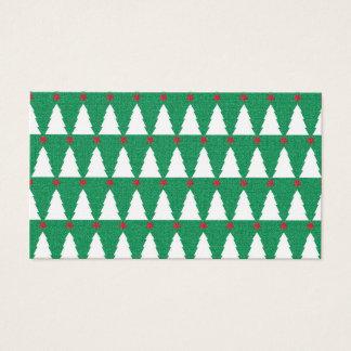 Glittery Weihnachtsbäume Visitenkarte