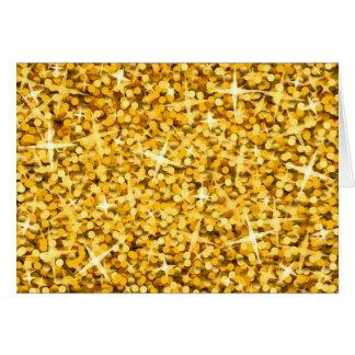 "Glitz-""Gold"" Grußkarte"