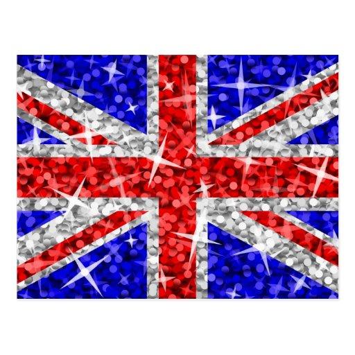 Glitz Großbritannien-Postkarte