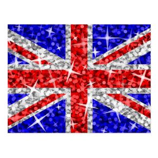 Glitz Großbritannien-Postkarte Postkarte