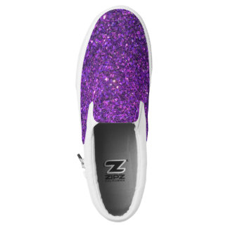 Glitz-lila Glitzer-Schuhe! Slip-On Sneaker