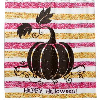 Glitzer glückliches Halloween Duschvorhang