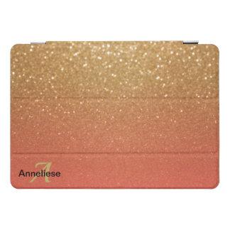 Glitzer-Gold und Koralle iPad Pro Cover