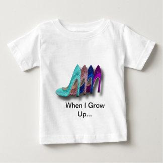Glitzer-hohe Ferse beschuht Mode-Shirts Baby T-shirt
