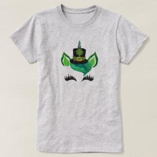 Glitzer-Koboldunicorn-Shirt St. Pattys T-Shirt
