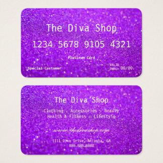 Glitzer-Kreditkarte der Geschäfts-Karten-| lila Visitenkarte