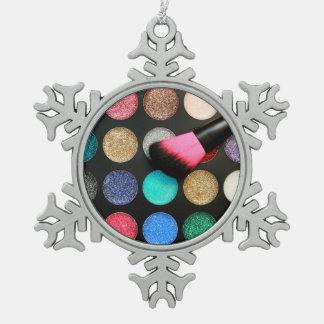 Glitzer-Make-upverzierung Schneeflocken Zinn-Ornament