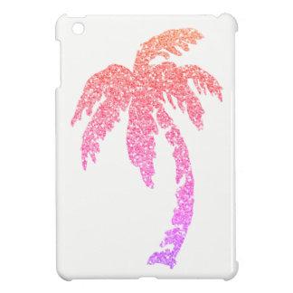 Glitzer-rosa korallenrotes lila Palme iPad iPad Mini Hülle