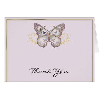 Glitzer-Schmetterling auf Lavendel danken Ihnen Karte
