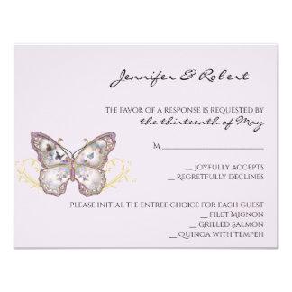 Glitzer-Schmetterling auf Lavendel-Wartekarte Karte
