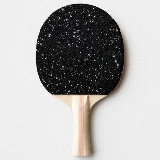 Glitzer Stars2 - Silbernes Schwarzes Tischtennis Schläger