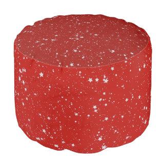 Glitzer-Sterne - silbernes Rot Hocker
