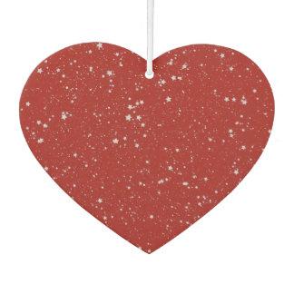 Glitzer-Sterne - silbernes Rot Lufterfrischer