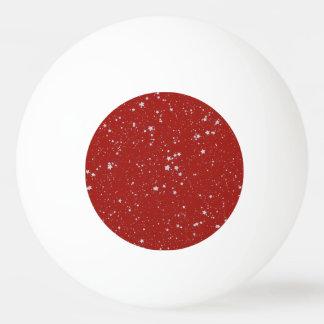 Glitzer-Sterne - silbernes Rot Tischtennis Ball