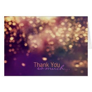Glitzern danken Ihnen zu kardieren Karte