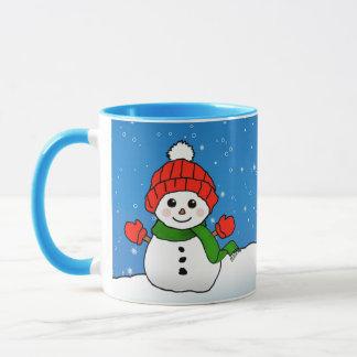 Glitzern der Snowman: Frohe Feiertage! Tasse