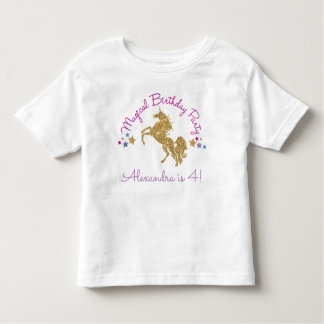 Glitzerunicorn-magischer Mädchen-Geburtstags-T - Kleinkind T-shirt