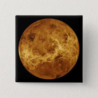 Globale Ansicht der Oberfläche von Venus Quadratischer Button 5,1 Cm