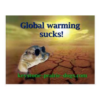 Globale Erwärmung ist zum Kotzen Postkarte