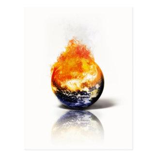Globale Erwärmung Postkarte
