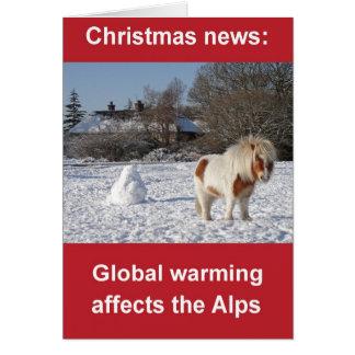 Globale Erwärmung Weihnachtskarte Karte