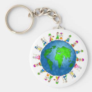 Globale Geburt Christis-Kinder Schlüsselanhänger