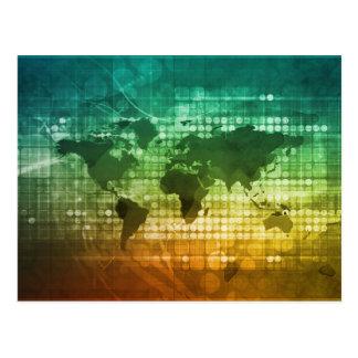 Globale Geschäftsstrategie und Entwicklung Postkarte