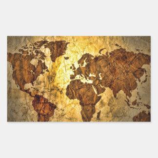 Globale Karte niedlich Rechteckiger Aufkleber