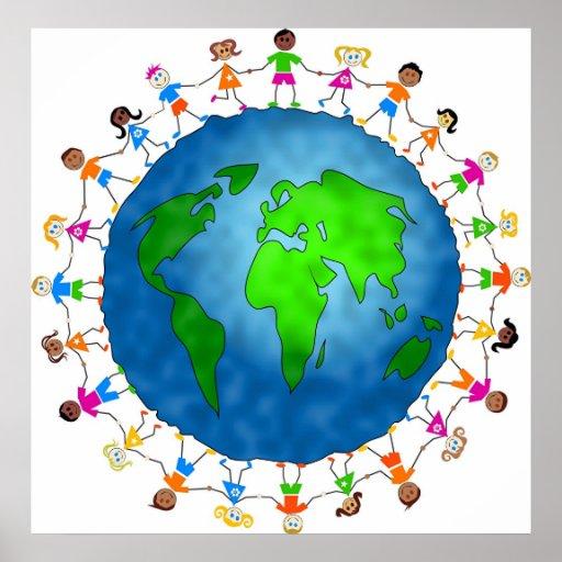 Globale Kinder Plakate