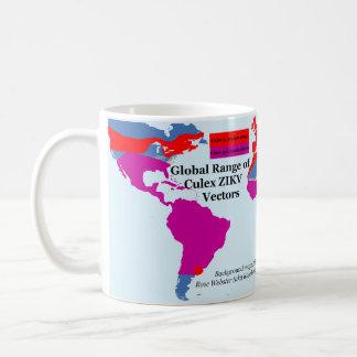 Globale Strecke der Tasse des Culex-ZIKV durch