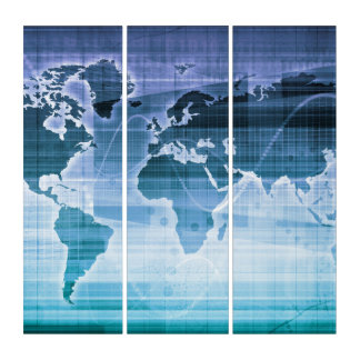 Globale Technologie-Lösungen Triptychon