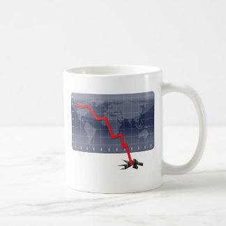 Globale Wirtschaftskrise Kaffeetasse