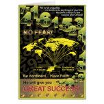 Globaler Erfolg Grußkarte