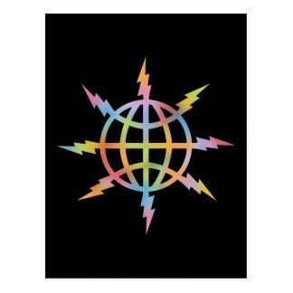 Globaler Info-Verbreiter Postkarte