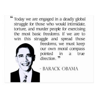 Globaler Kampf, Obama Barack Postkarte