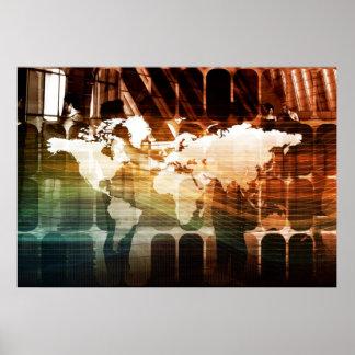Globaler Management-Technologie-Prozess als Poster